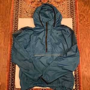 Nike Running Windbreaker- blue&black- size Large